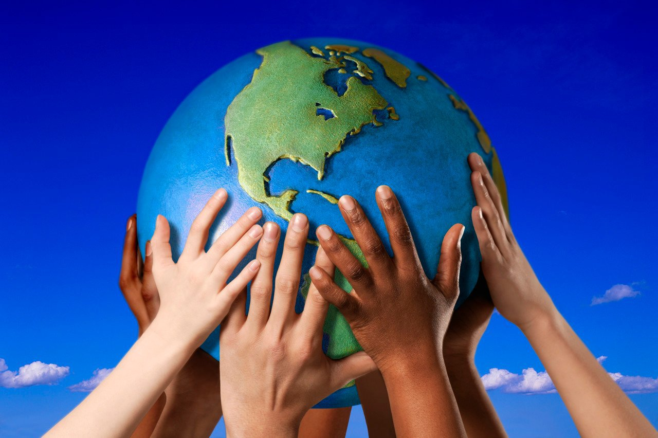 hands and world – Global Citizen Foundation